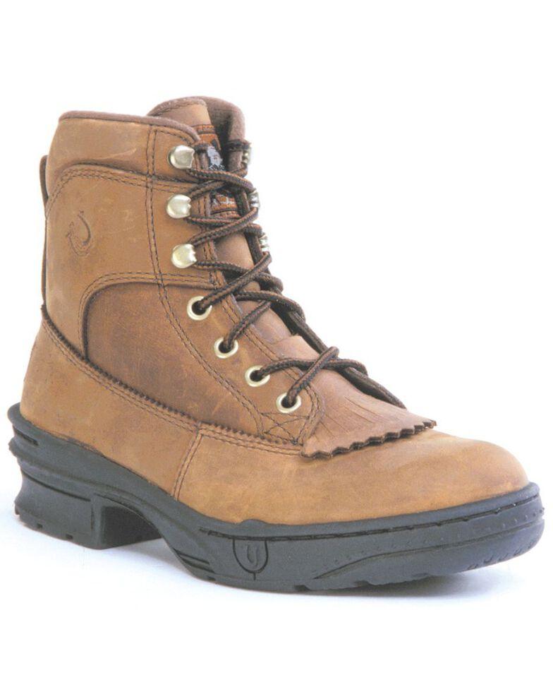 """Roper Footwear Women's Crossrider Horseshoe 3/4"""" Heel Boots, Brown, hi-res"""