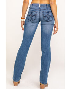 Ariat Women's Shawna R.E.A.L. Boot Cut Jeans, Blue, hi-res