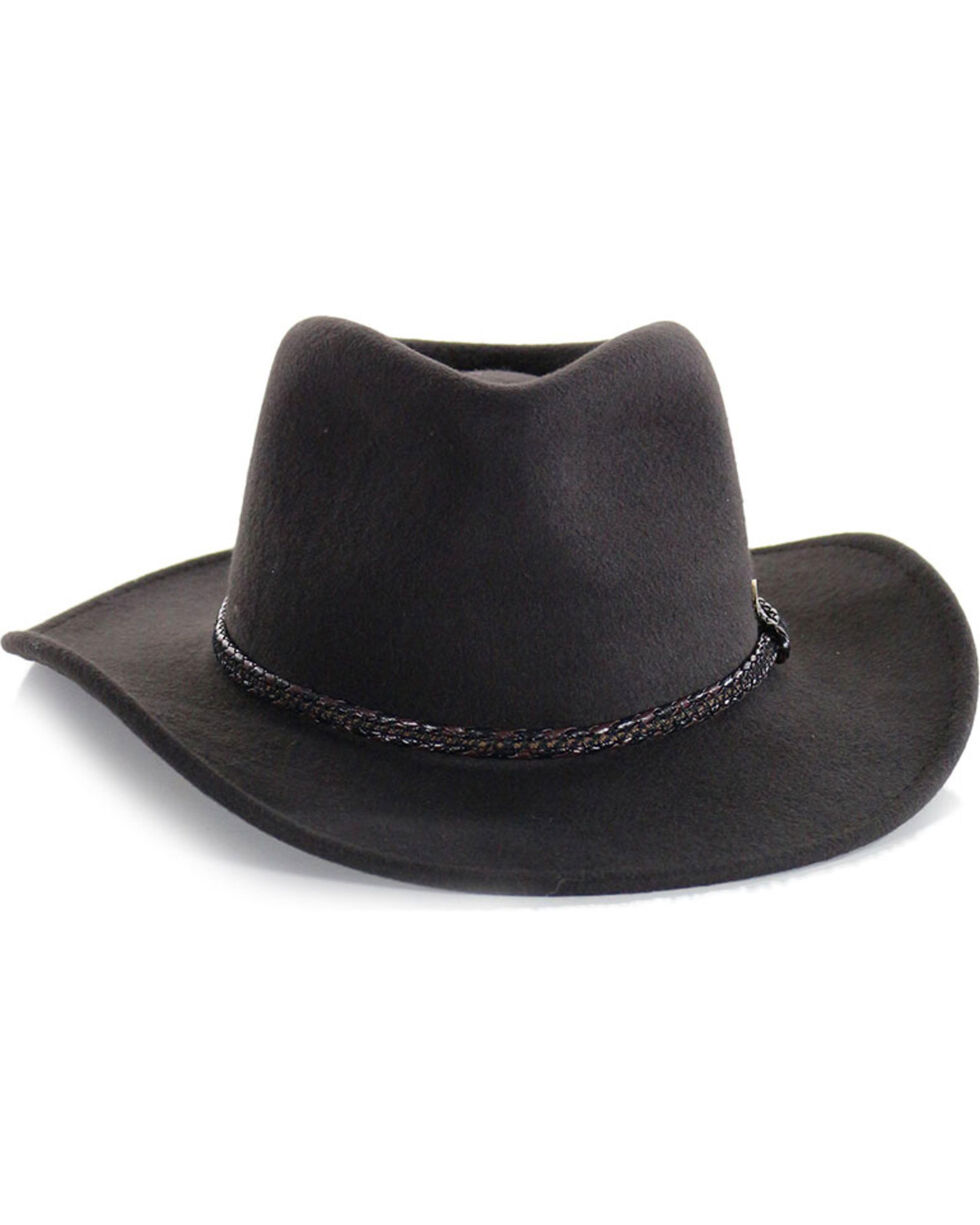 Cody James® Men's Outback Wool Hat , Chocolate, hi-res
