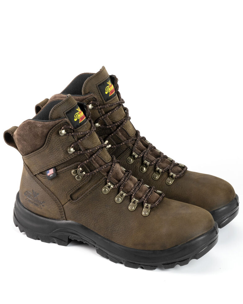 Thorogood Men's Brown American Union Waterproof Work Boots - Steel Toe, Brown, hi-res