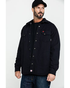 Ariat Men's FR Rig Shirt Work Jacket - Big , Black, hi-res