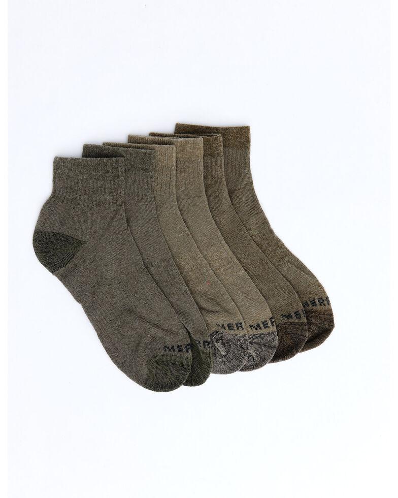 Merrell Men's Basic Socks - 3 Pack, Brown, hi-res