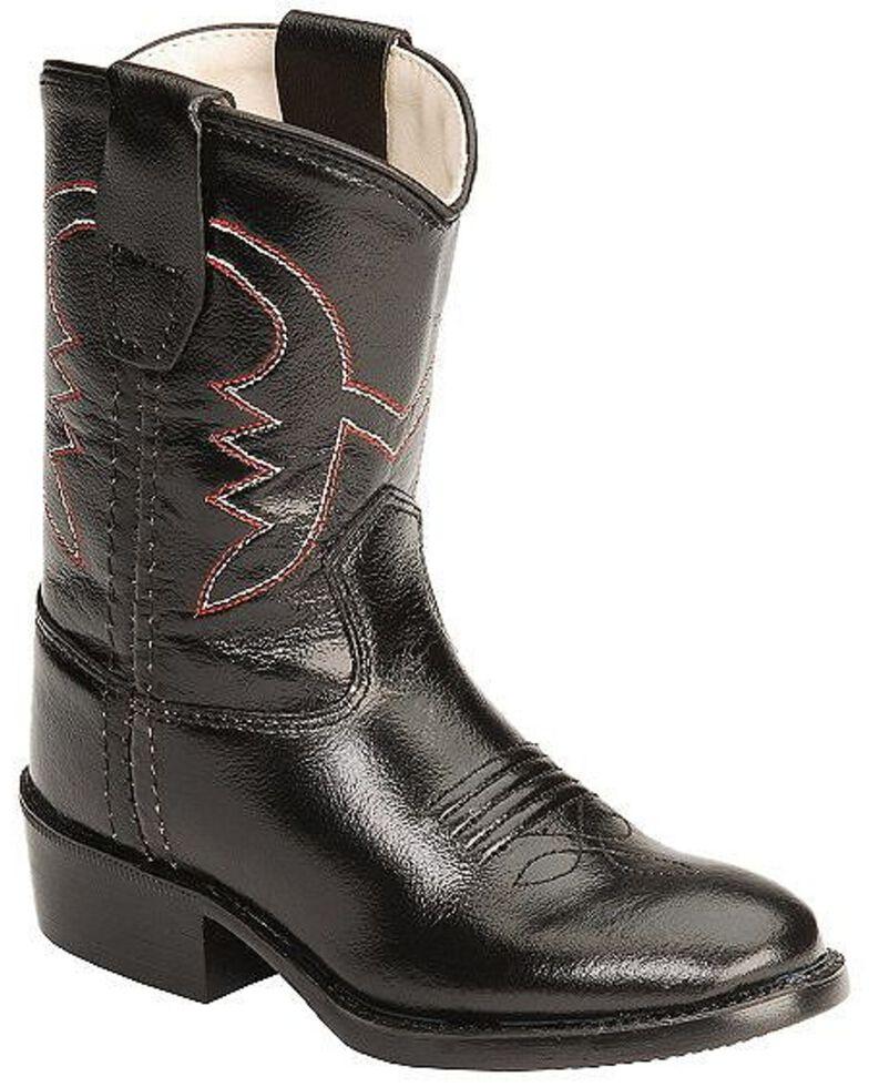 Old West Toddler Girls' Cowboy Boots, Black, hi-res