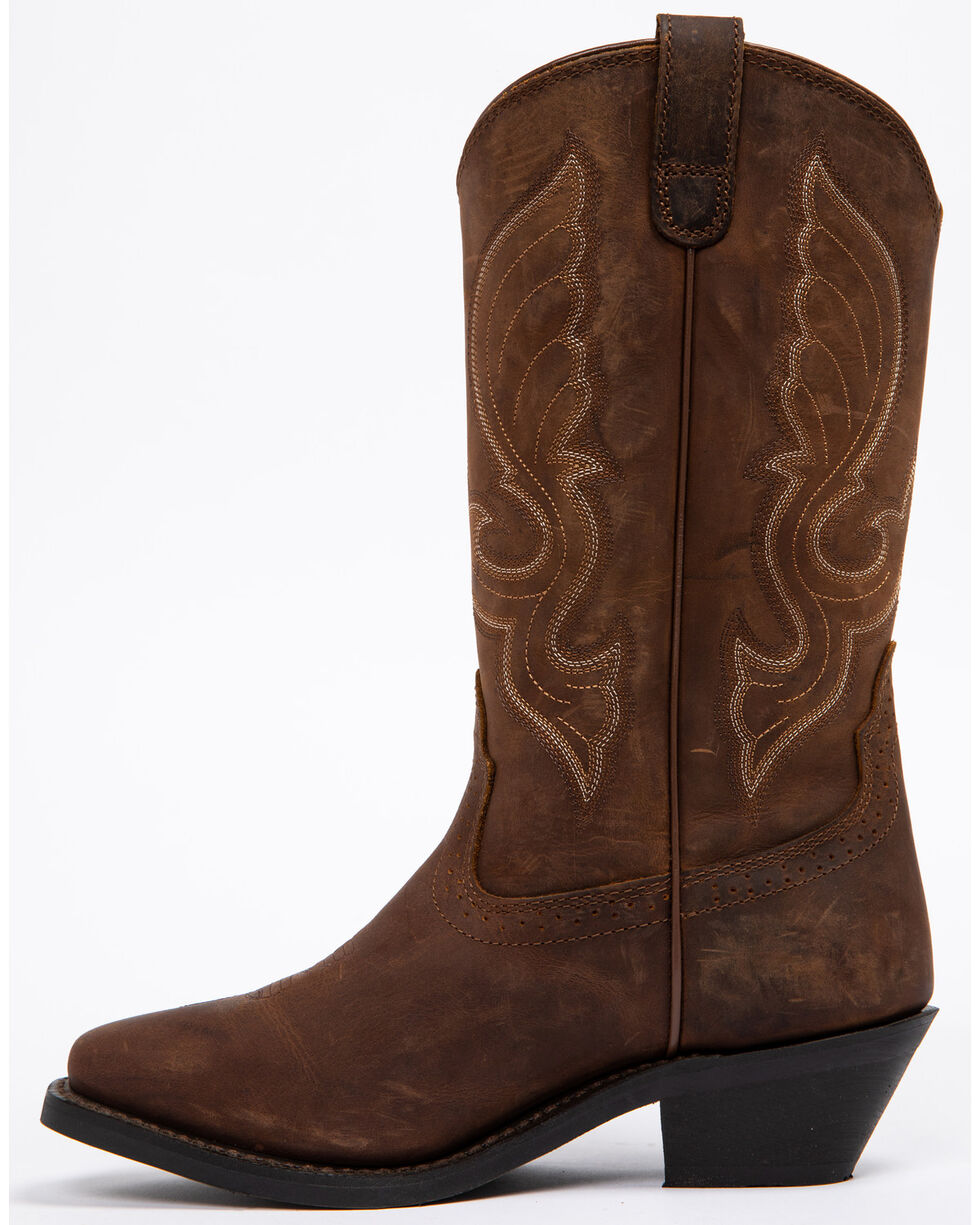 """Shyanne Women's 11"""" Brown Western Boots - Square Toe, Brown, hi-res"""