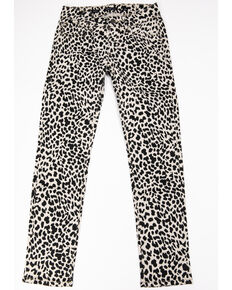 Miss Me Girls' Leopard Skinny Jeans, Black, hi-res