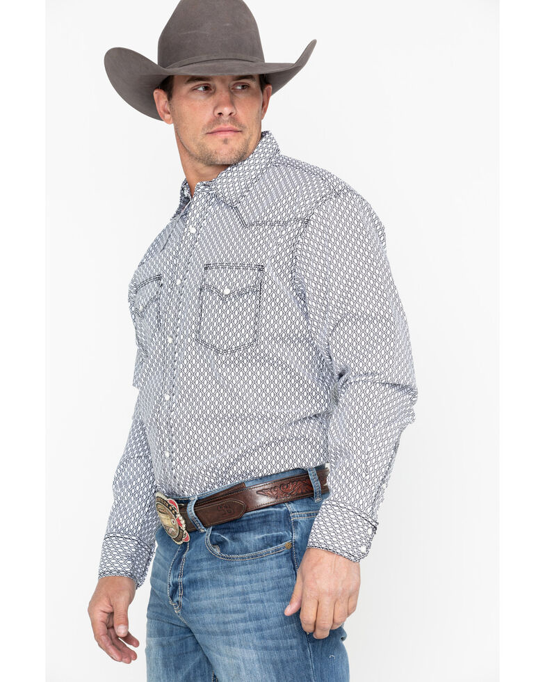 Wrangler 20X Men's Black Competition Advanced Long Sleeve Western Shirt, Black, hi-res