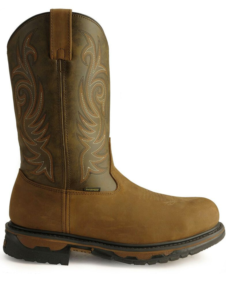 Laredo Men's Brazos Steel Toe Work Boots, Tan Distressed, hi-res