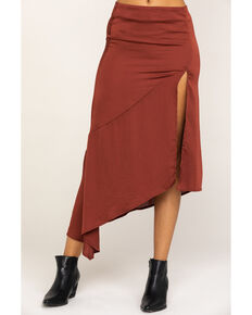 Free People Women's Lola Skirt, Brown, hi-res