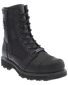 Harley Davidson Men's Boxbury Moto Boots - Round Toe, Black, hi-res