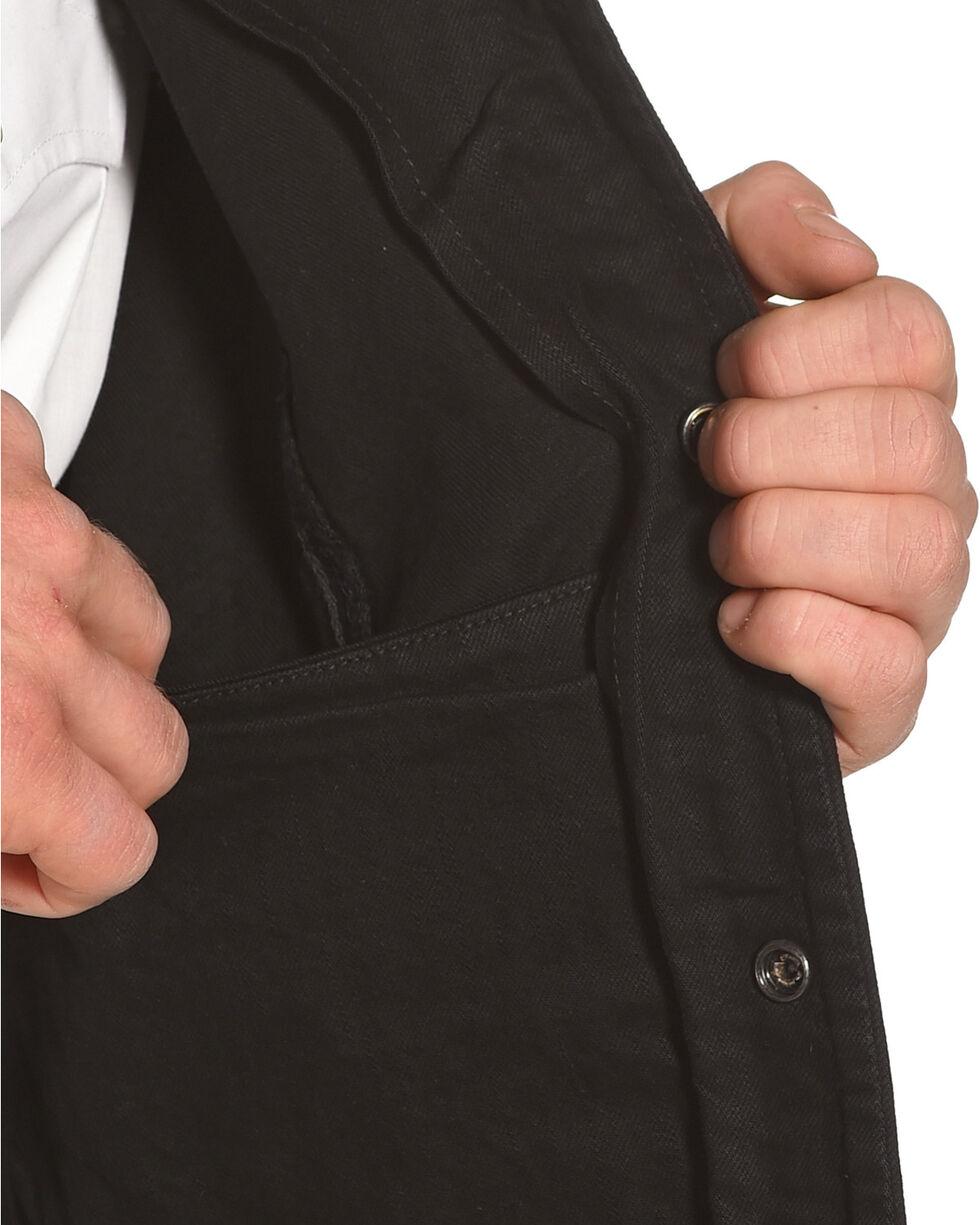 Liberty Wear Men's Black Denim Vest, Black, hi-res