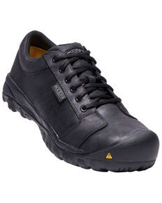 Keen Men's La Conner Work Shoes - Aluminum Toe, Black, hi-res