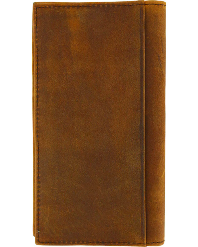 Cody James Men's Classic Stitch Leather Rodeo Wallet, Brown, hi-res