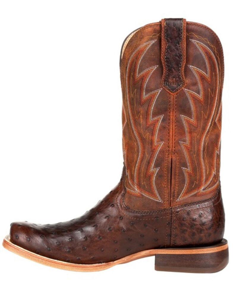 Durango Men's Chestnut Full-Quill Ostrich Western Boots - Square Toe, Chestnut, hi-res