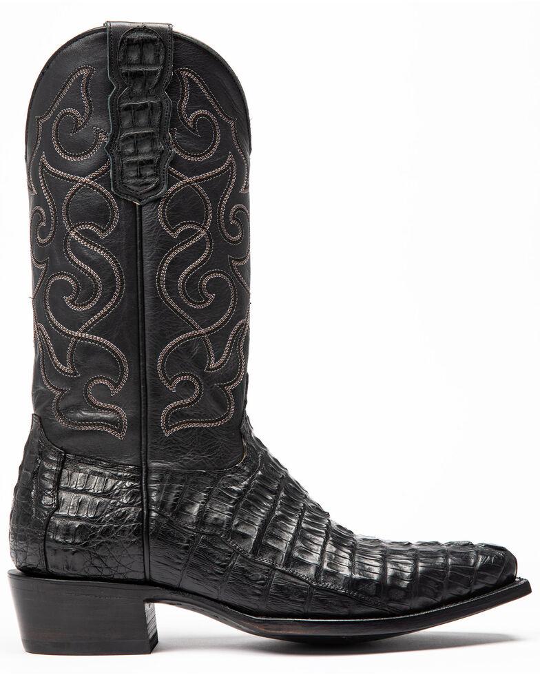 Moonshine Spirit Men's Rock City Fuscus Caiman Western Boots - Snip Toe, Black, hi-res