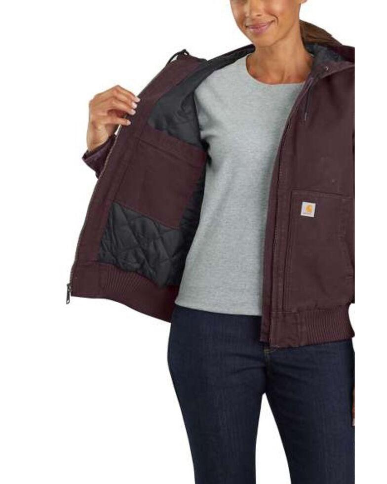 Carhartt Women's Sandstone Quilted-Flannel Active Jacket, Wine, hi-res