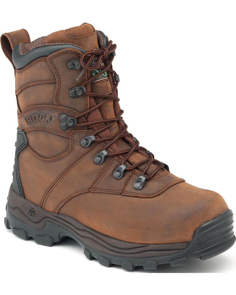 Rocky Men's Sport Utility Pro Insulated Waterproof Outdoor Boots, Brown, hi-res