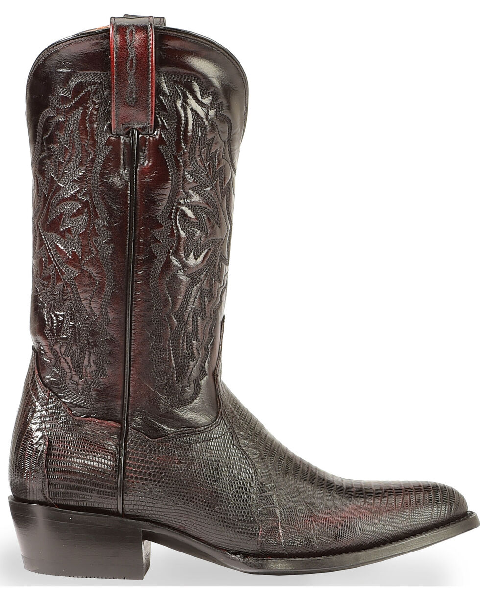 Dan Post Men's Raleigh Lizard Western Boots, Black Cherry, hi-res