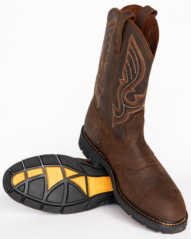 c0064653288 Cody James Men's Western Pull On Work Boots - Round Toe