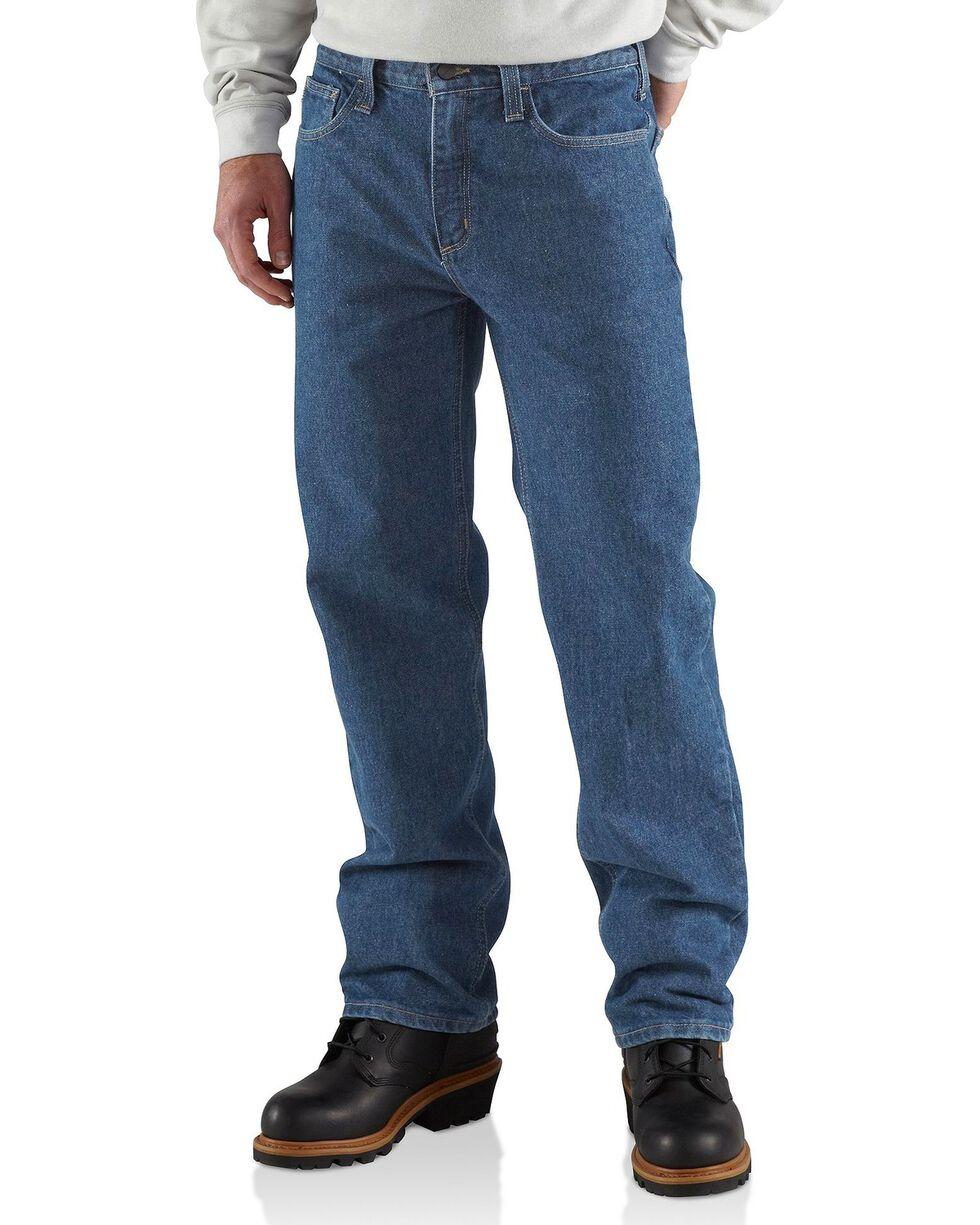 Carhartt Men's Flame Resistant Utility Jeans, Midstone, hi-res