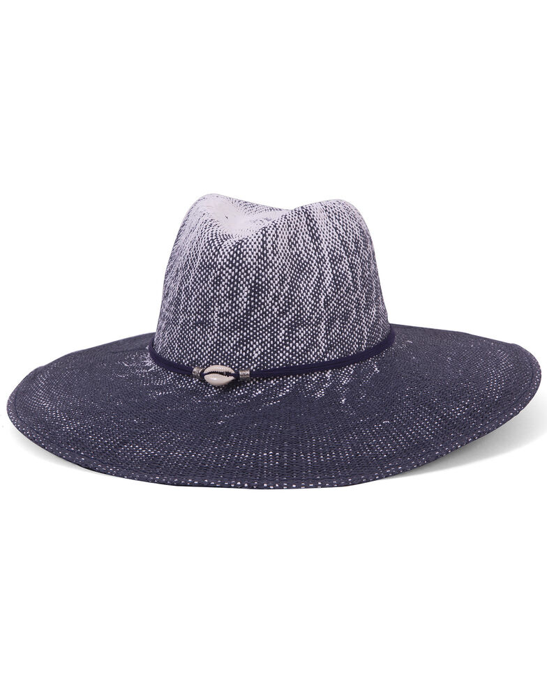 Physician Endorsed Women's Sandy Beaches Toyo Shell Accent Hat, Navy, hi-res