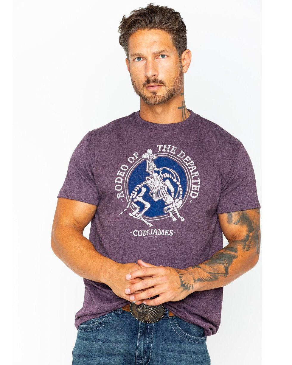 Cody James Men's Rodeo Of The Departed T-Shirt, Maroon, hi-res