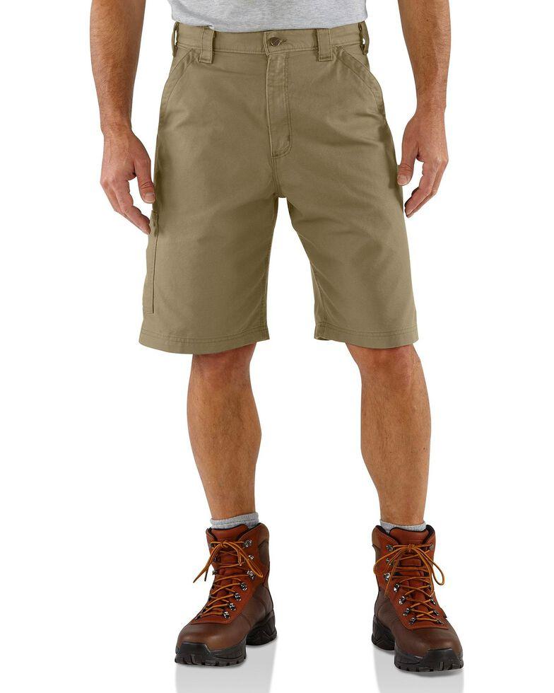 Carhartt Men's Canvas Carpenter Work Shorts, Khaki, hi-res