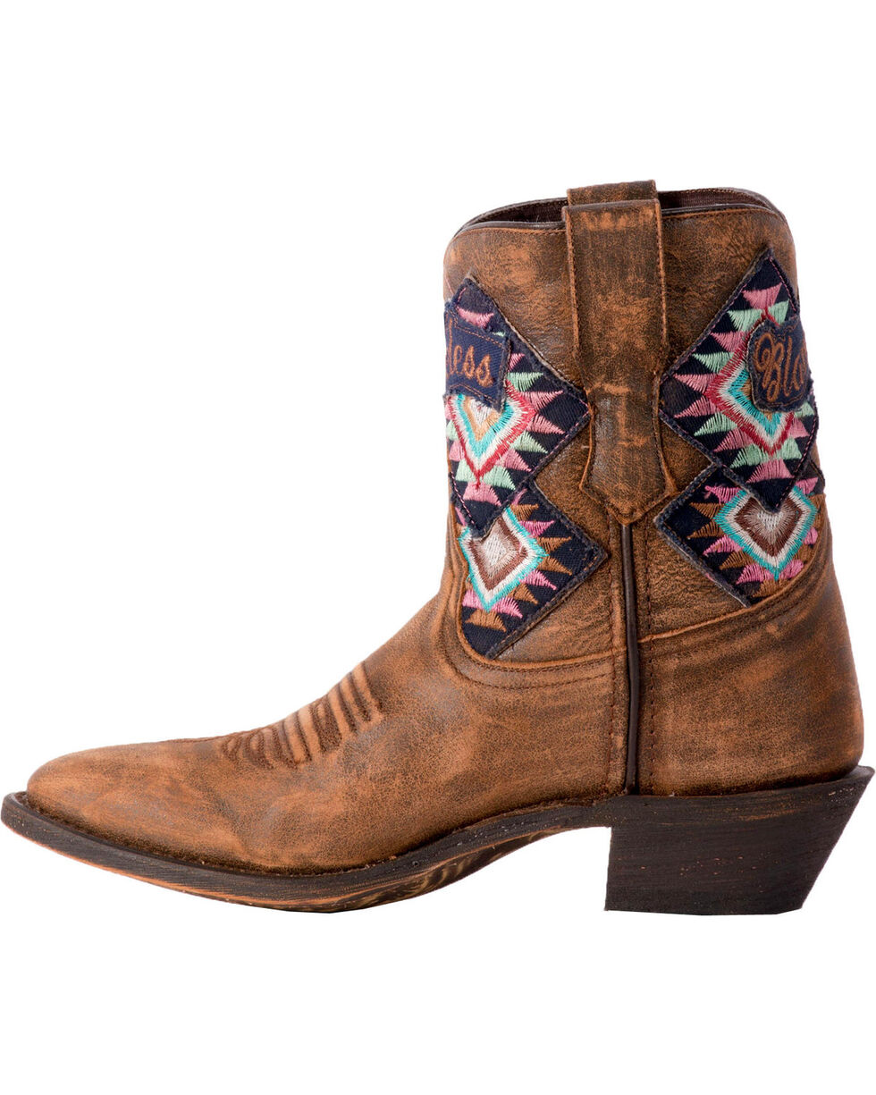 Laredo Women's Radical Blameless Arrow Short Cowgirl Boots - Medium Toe, Tan, hi-res