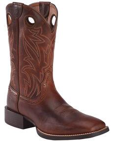 Ariat Sport Men's Sidebet Performance Cowboy Boots - Wide Square Toe, Brown, hi-res