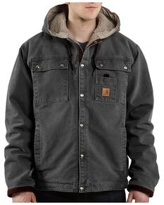 Carhartt Men's Sandstone Sherpa Lined Jacket, Grey, hi-res