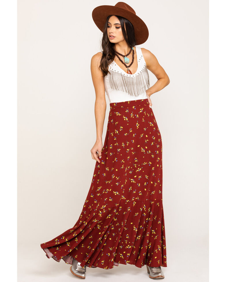 Free People Women's Ruby's Forever Maxi Skirt, Brown, hi-res