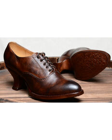 Oak Tree Farms Janet Brown Heels - Medium Toe, Dark Brown, hi-res