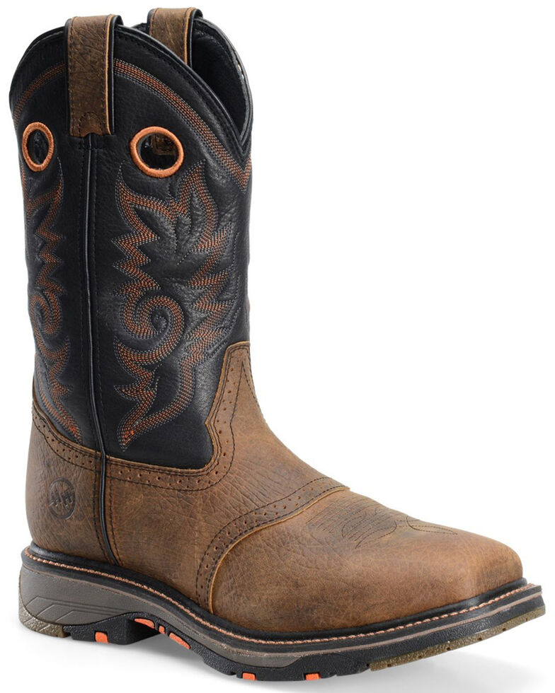 Double H Men's Saddle Composite Toe Western Work Boots, Brown, hi-res