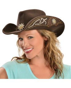 Bullhide Women's Your Everything Wool Hat, Chocolate, hi-res
