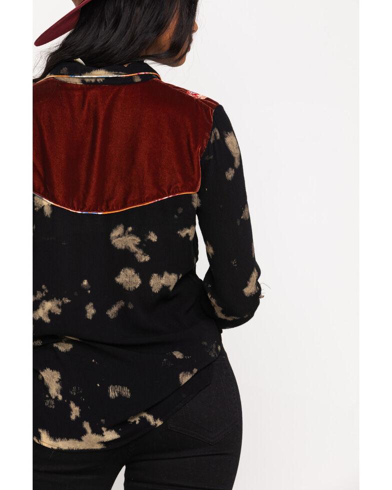 Aratta Women's Black Wild West Long Sleeve Top, Black, hi-res