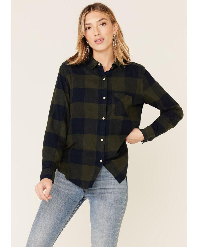 Flag & Anthem Women's Olive Edina Buffalo Plaid Long Sleeve Western Shirt , Olive, hi-res