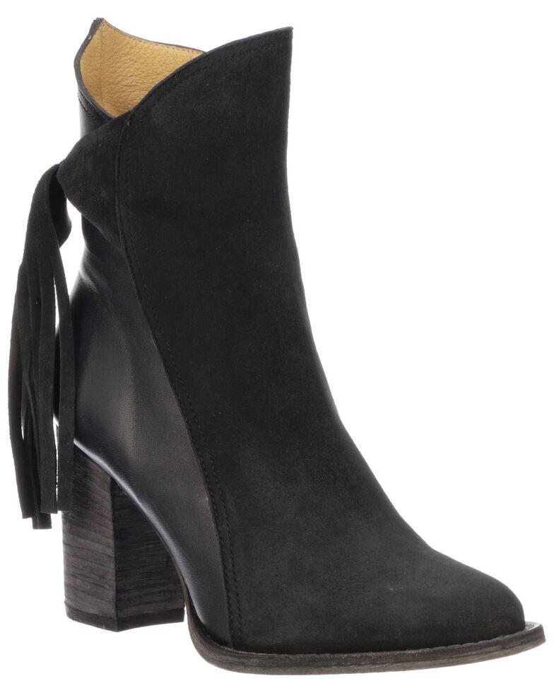 Lucchese Women's Britt Fashion Booties - Round Toe, Navy, hi-res