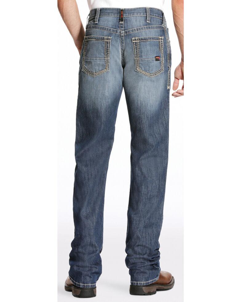 Ariat Men's FR M4 Inherent Boundary Low Rise Bootcut Jeans - Big, Dark Blue, hi-res