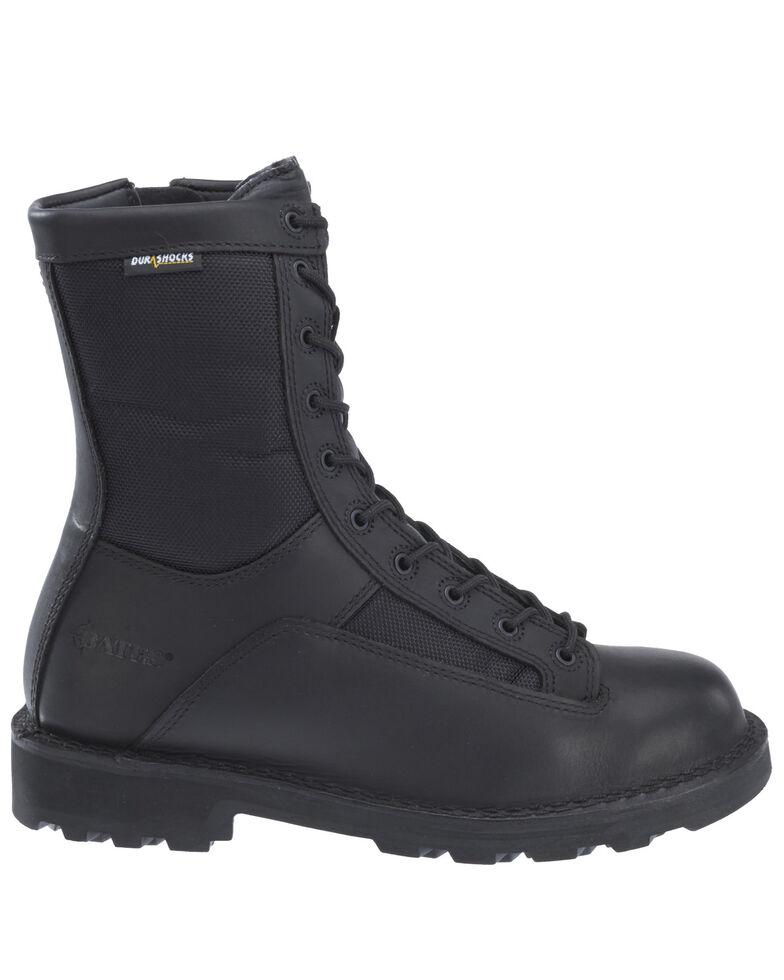 Bates Men's Durashocks Lace-Up Work Boots - Soft Toe, Black, hi-res