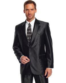 Circle S Men's Swedish Knit Tulsa Sport Coat, Black, hi-res