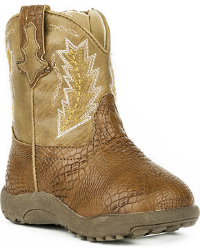 Roper Infant Boys' Charlie Cowboy Boots , Brown, hi-res