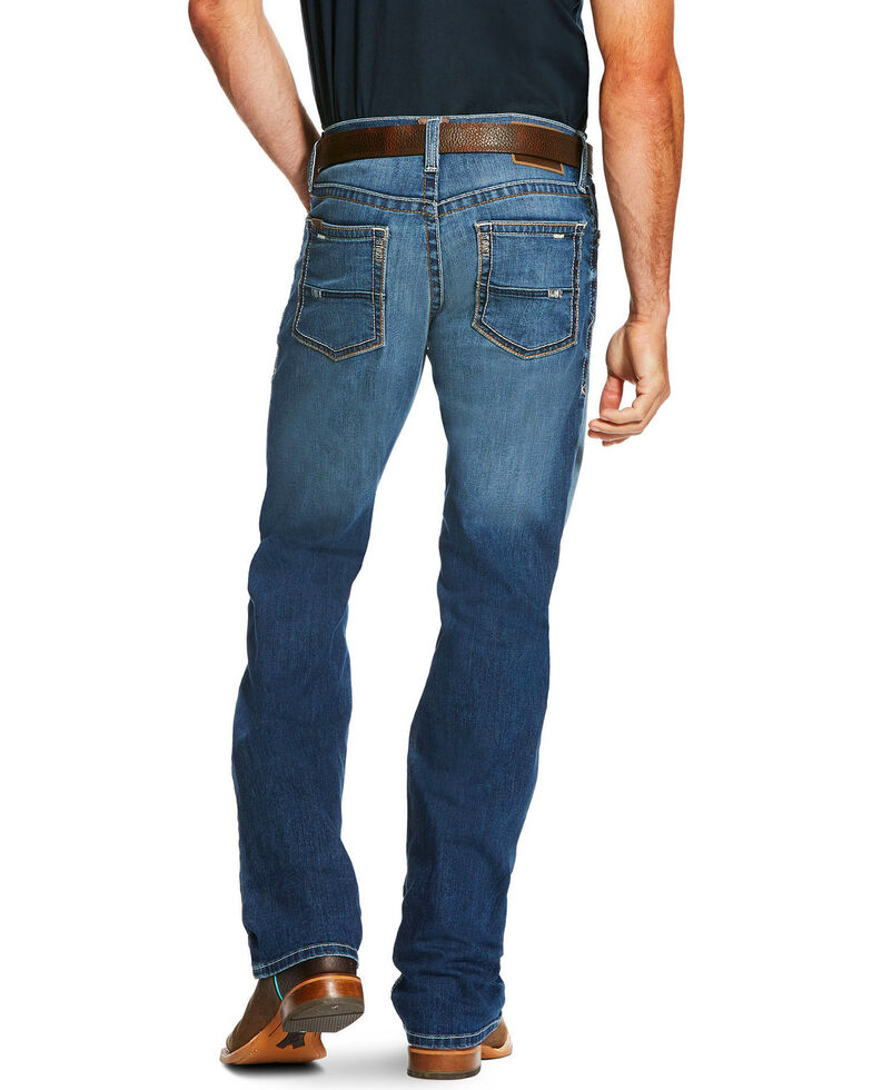 Ariat Men's Blue M4 Ultra Stretch Phoenix Fashion Boot Jeans , Blue, hi-res