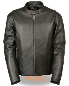 Milwaukee Leather Men's 3X Classic Scooter Jacket , Black, hi-res