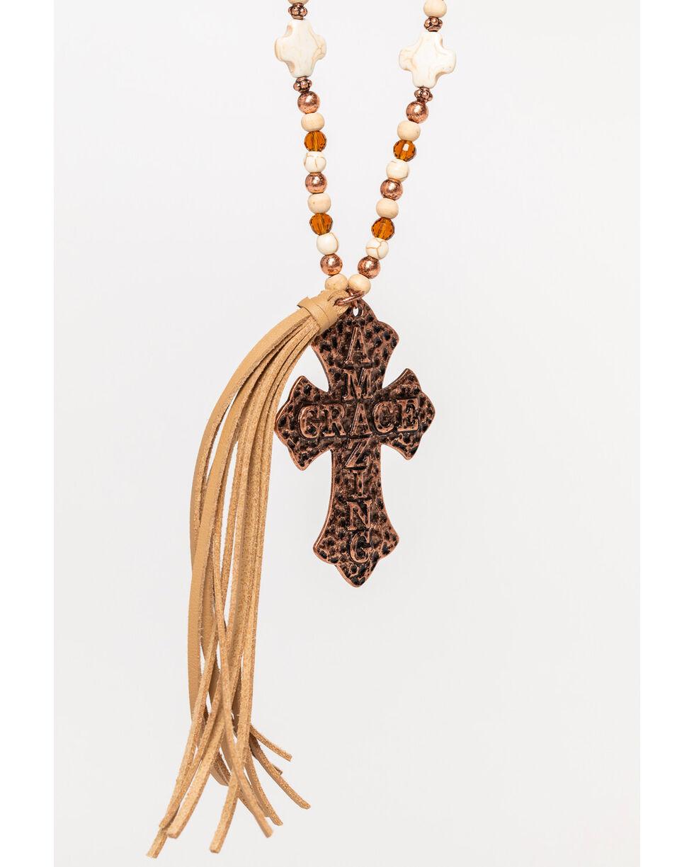 Shyanne Women's Amazing Grace Tassel Necklace, Rust Copper, hi-res