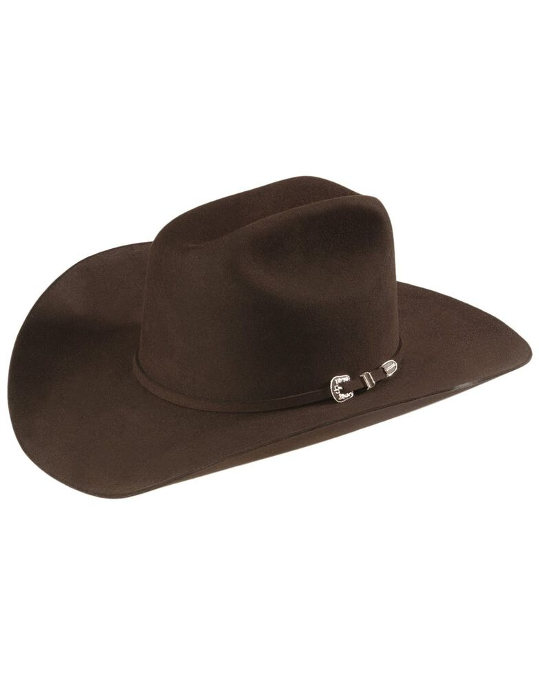 Stetson Men's 6X Skyline Fur Felt Western Hat, Chocolate, hi-res