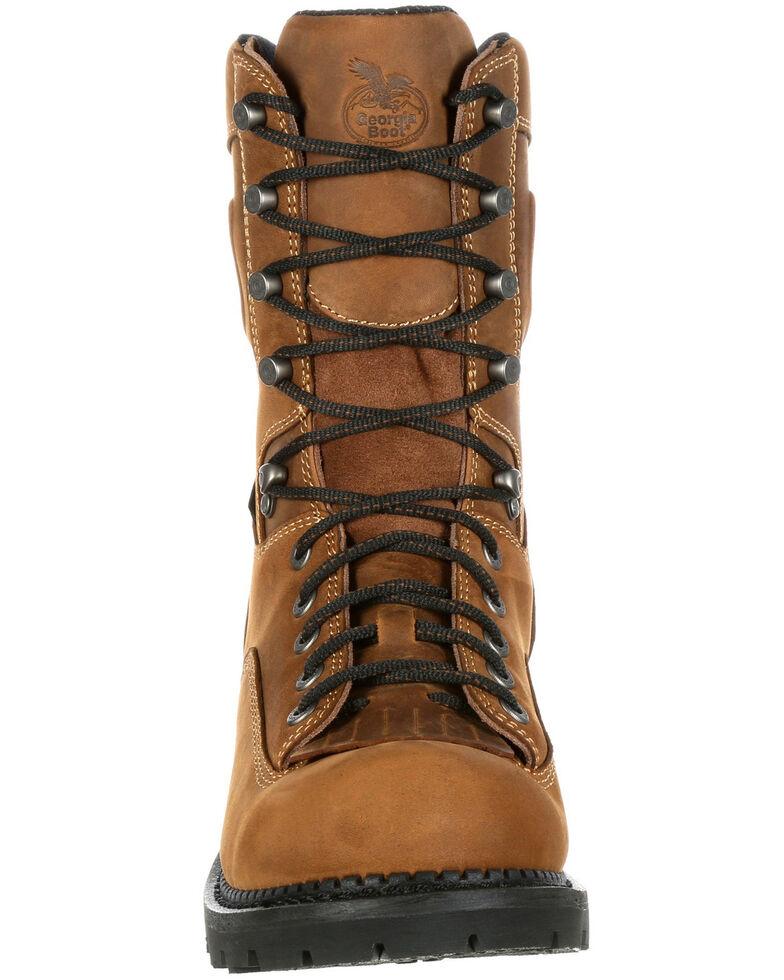 Georgia Boot Men's Comfort Core Waterproof Logger Boots - Composite Toe, Brown, hi-res