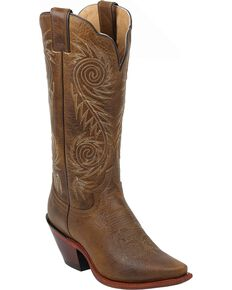 "Justin Women's Damiana 13"" Fashion Western Boots, Tan, hi-res"