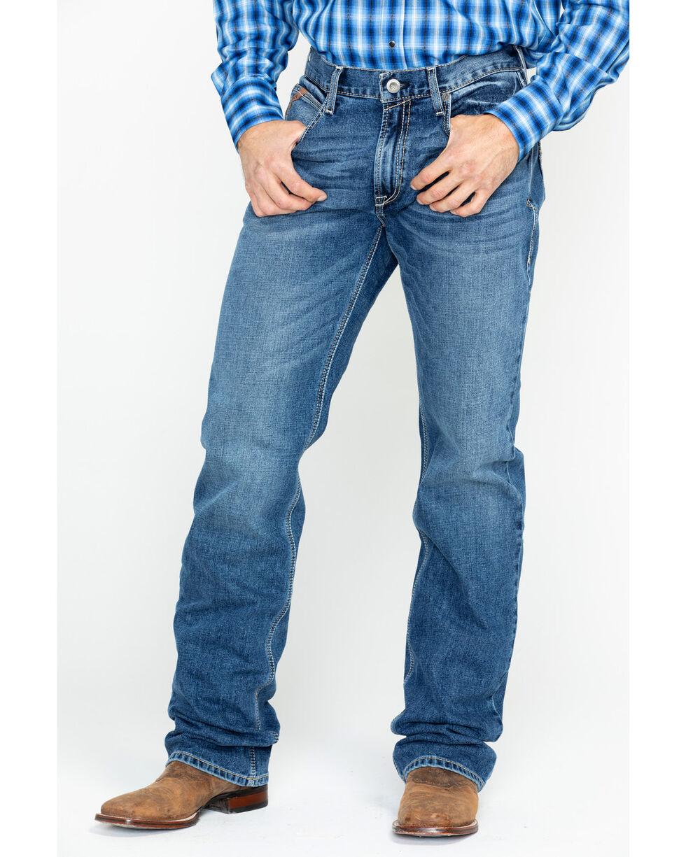 Ariat Men's Riley Fargo Classic Pocket Boot Jeans , Indigo, hi-res