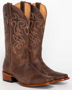 Shyanne® Women's Mad Cat Square Toe Western Boots, Brown, hi-res