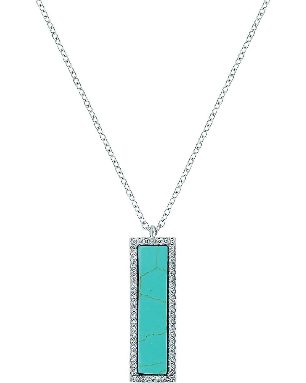 Montana Silversmiths Women's Written Faith Necklace , Turquoise, hi-res