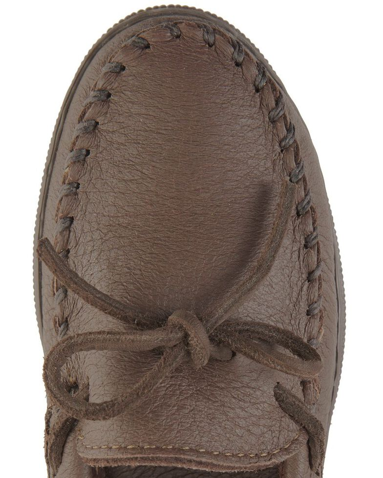 Women's Minnetonka Moosehide Classic Moccasins, Chocolate, hi-res